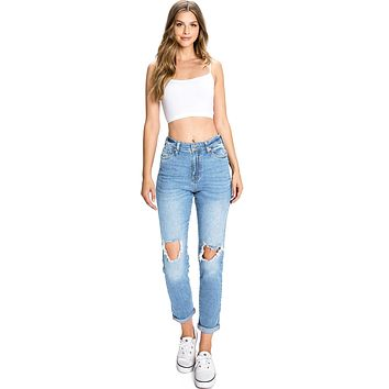 Classic Ripped Mom Jeans
