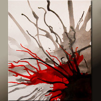 Abstract Art Painting on Canvas 16x20 Original Contemporary Modern Wall Art Paintings by Destiny Womack - dWo - Untamed