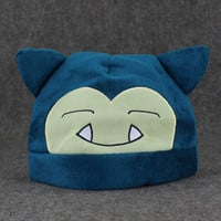Anime Snorlax Plush Hat Soft Winter Hat Cap Cosplay Hats Cartoon Custume For Kids or Adult