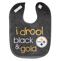 Pittsburgh Steelers NFL Football Full Color Mesh Baby Bibs I Drool