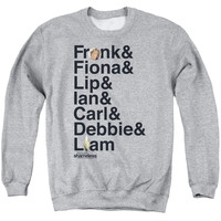 SHAMELESS/FAMILY - ADULT CREWNECK SWEATSHIRT - ATHLETIC HEATHER - 2X