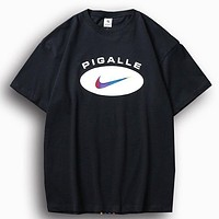 Nike LabXpigalle New fashion letter print couple top t-shirt Black