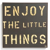Third and Wall Art 'Enjoy the Little Things' Sign | Nordstrom