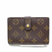 Authentic Louis Vuitton Wallet Portefeuille Viennois Browns Monogram 18176