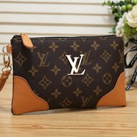 LV Louis Vuitton New Fashion Print Casual Wallet Clutch