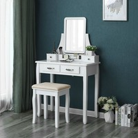 White Vanity Set With Mirror And Removable Top