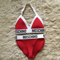 Reworked Handmade Moschino Lingerie or Fashion Bikini set