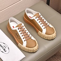 prada men fashion boots fashionable casual leather breathable sneakers running shoes 67