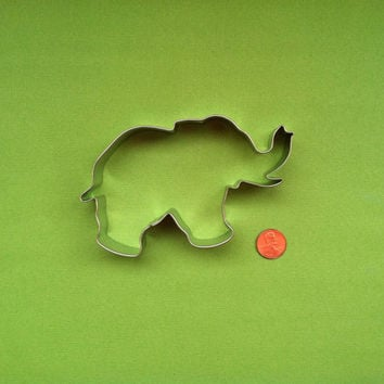 Elephant Cookie Cutter - Use it to cut Fondant, Cookies, and Pancakes