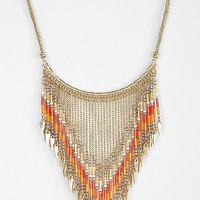 Beaded Points Bib Necklace - Urban Outfitters
