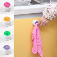 2pcs Bathroom Storage Wash Cloth Towel Clip Kitchen Towel Storage Rack Accessories (Color: Multicolor)