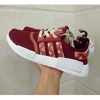 Louis Vuitton LV x Adidas NMD R1 Red S75237 Boost Fashion Trending Sport Running Shoes Casual Shoes Sneakers