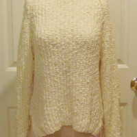 Ivory Sweater Womens Sweater Ladies Sweater Chunky Sweater Oversize Sweater Turtleneck Sweater White Sweater Winter Clothes Pullover Sweater
