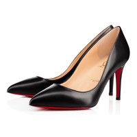Christian Louboutin Cl Pigalle Black Leather 85mm Stiletto Heel - Best Online Sale