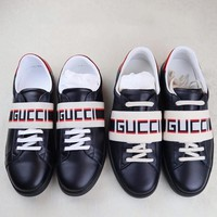 GUCCI trend men's sports fashion casual lace-up shoes