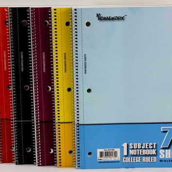 Discount One Subject Wire Notebook-College Ruled