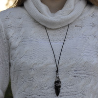 Obsidian Blade Necklace