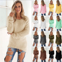 Women's Fashion Winter Stylish Long Sleeve Tops Sweater [9004954694]