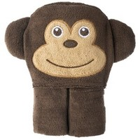 Circo® Newborn Hooded Monkey Towel Wrap - Brown