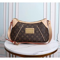 LV Louis Vuitton WOMEN'S MONOGRAM CANVAS LARGE VINTAGE INCLINED SHOULDER BAG