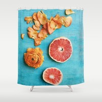 She Made Her Own Sunshine Shower Curtain by Olivia Joy StClaire
