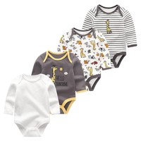 Summer New style baby rompers Long sleeve Newborn Infant Baby Boy Girl clothes Cute Cartoon Printed Jumpsuit Climbing Clothing