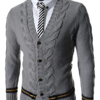 TheLees Mens Casual Colorful Knit Cardigan 10 Types