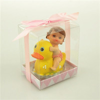 Polyresin Baby Shower Favors, 4-1/2-inch, Rubber Ducky, Pink