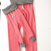 Mommy and me skinny sweats baby toddler coral skinny sweats