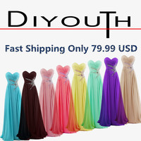 Aliexpress.com : Buy CHEAP!!!Chiffon Sweetheart Empire Beading Long Blue Prom Dresses Red Yellow Purple Mint Green Prom Dress 2015 under 100 from Reliable dress usa suppliers on Diyouth | Alibaba Group