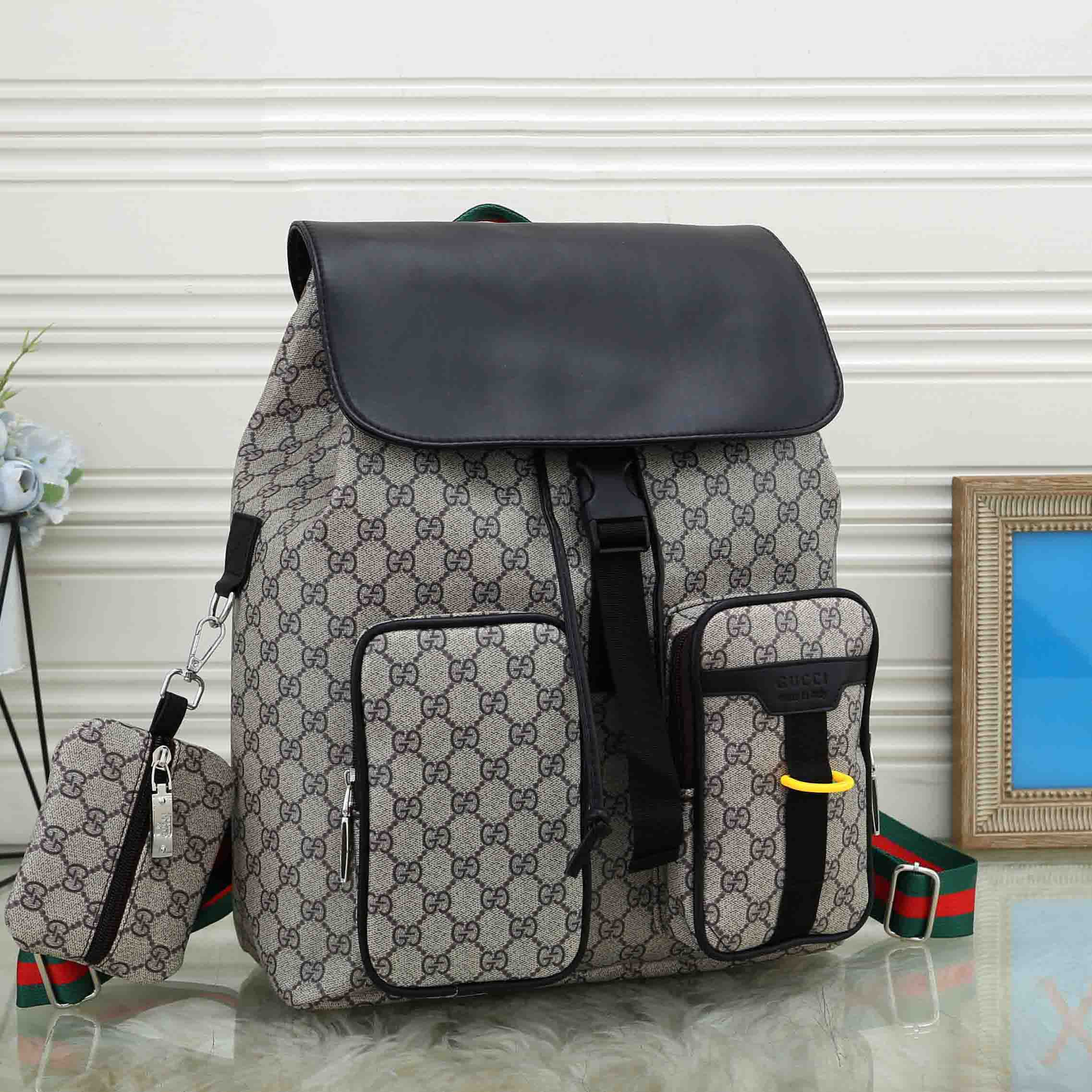 Image of Dior GG retro all-match backpack for men and women two-piece