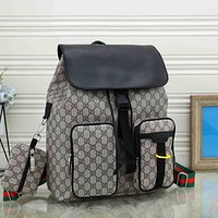 Dior GG retro all-match backpack for men and women two-piece