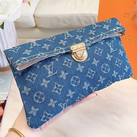LV New fashion monogram canvas shoulder bag crossbody bag Blue