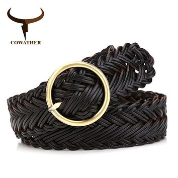Braided Leather Belts for Women