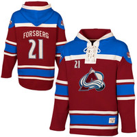 Peter Forsberg Colorado Avalanche Old Time Hockey Sawyer Alumni Heavyweight Hoodie - Burgundy