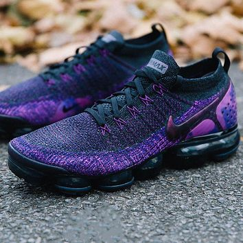 Nike Air Vapormax Flyknit 2.0 full palm atmospheric cushion knitted sports running shoes