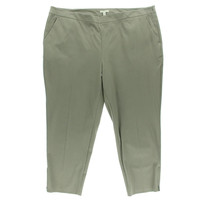Eileen Fisher Womens Plus Twill Slim Ankle Pants