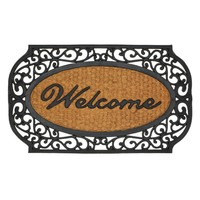 Grill Border Welcome Door Mat