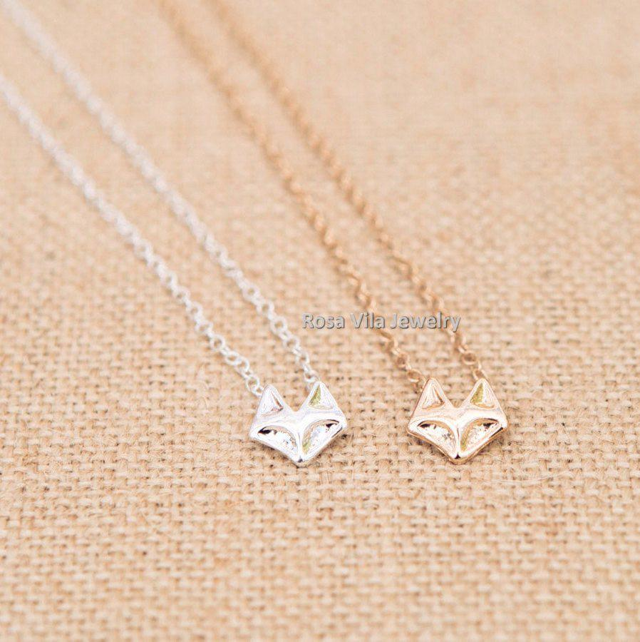Image of Fox Necklace - Gold and Silver