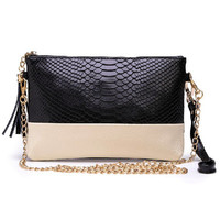 Free shipping Genuine leather Tassel handbags shoulder bags messenger bag Day clutch Chain bag small bag women clutches MZ70-56