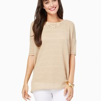 Mixed Knit Oversized Top | Charming Charlie