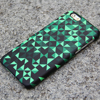 Turquoise and Black Geometric iPhone 6/6s Case iPhone 6/6s Plus Case iPhone 5c Galaxy S6 Edge Note 5 Case 006
