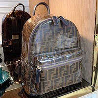 Fendi Fashion New More Letter Leather Handbag Backpack Bag Book Bag
