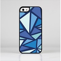 The Large Vector Shards of Blue Skin-Sert Case for the Apple iPhone 5/5s