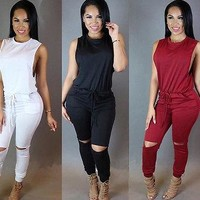 Women Sexy  Sleeveless Jumpsuit Romper Playsuit