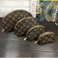 Inseva LV Louis Vuitton Cosmetic Bags For Accessories Travel Storage Cosmetic Bag Four Piece Suit F