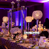"""Wedding centerpieces set of 10 Candleholder, tall centerpices 27"""" tall by 10 Inches diameter 10pcs 589.00"""