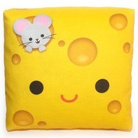 Handmade Gifts | Independent Design | Vintage Goods Mini Happy Cheese Pillow - I love kawaii