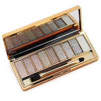 9 Colors Diamond Shining Eyeshadow Palette Glitter Matt Makeup Cosmetic Foundation Palette with Double-sided Makeup Brush