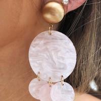Light Up My Life Earrings: Soft Blush
